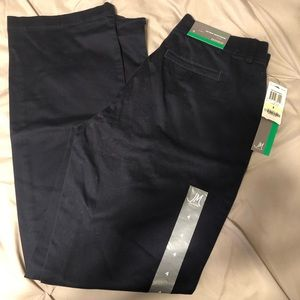 NWT No gap waistband trouser size 4. Navy.